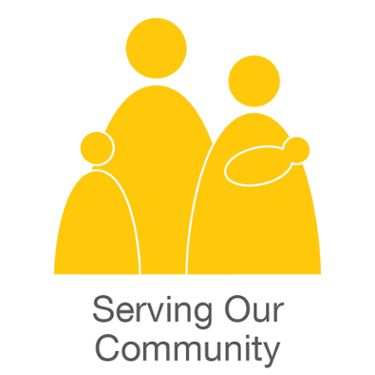 Medela Cares Serving Our Community logo
