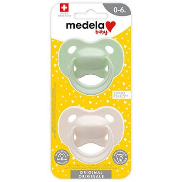Medela Baby Original Pacifier pastel colors for 0-6 months in retail package