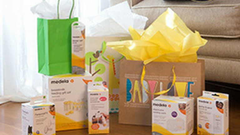 Baby shower gift set of Medela products