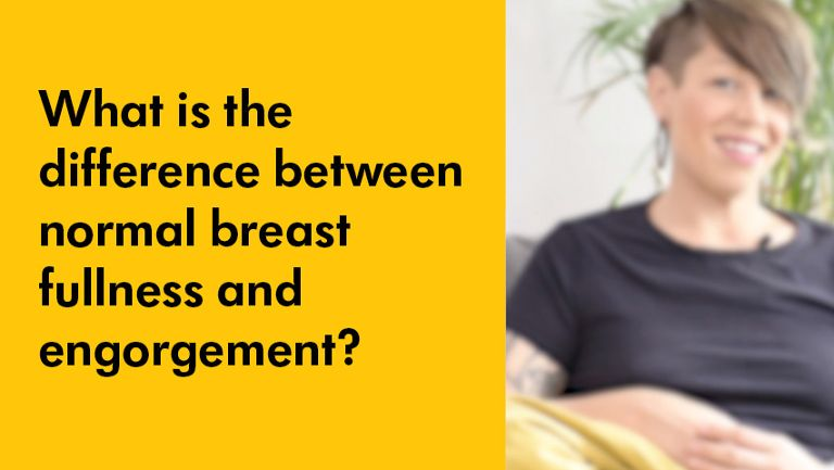 tips from a lactation consultant difference between normal breast fullness and engorgement video cover