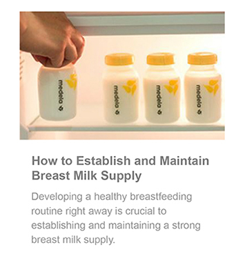 Establish and maintain breast milk supply